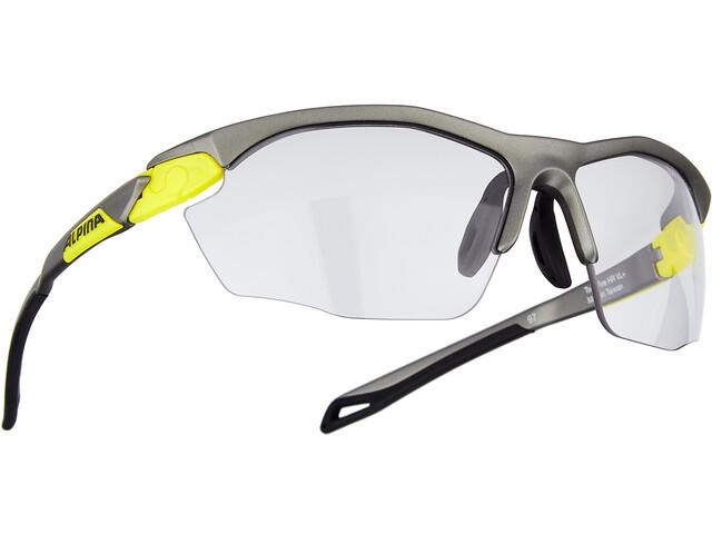 Alpina Twist Five HR VL+ Glasses tin matt-neon yellow/black